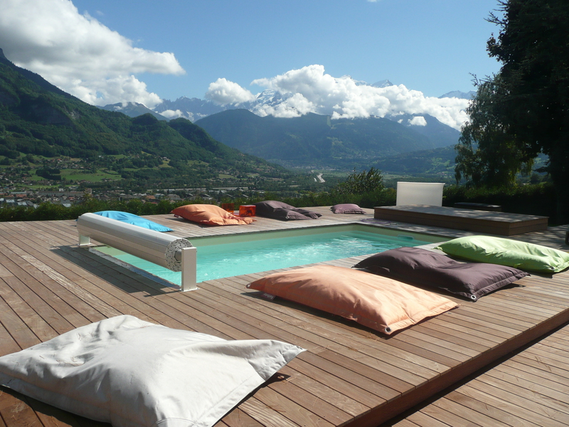Piscine semi enterr e 10m2 - Piscine semi enterree impot dijon ...