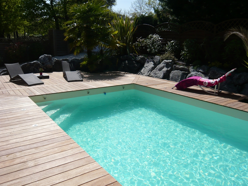 Piscine bois rectangulaire piscines bois enterr es et for Liner pour piscine enterree rectangulaire