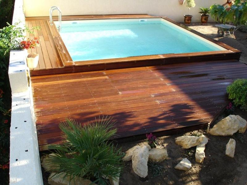 Piscine semi enterr e 3x3 for Piscine coque carree 3x3