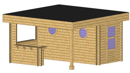 Pool-House En Bois: Espace De Vie Et Détente