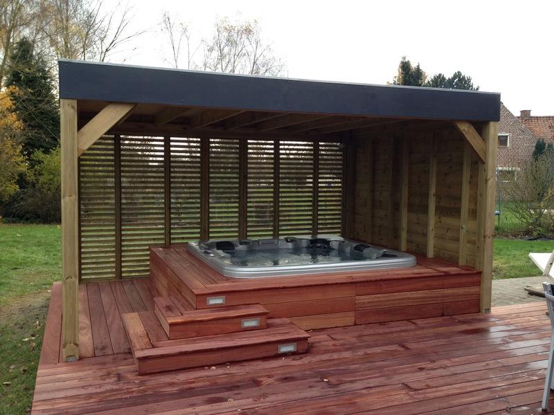 Constructions en bois le concept kios for Piscine en bois belgique