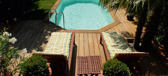 Terrassen Pool wooden family pool terrassen hout