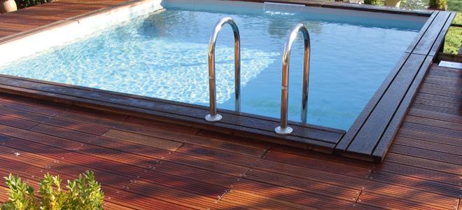 Houten zwembaden opbouw zwembad for Piscine hors sol wood grain