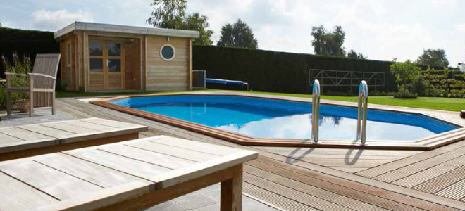 photo piscine bois woodline
