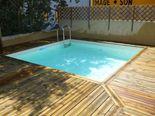 Piscines bois petite piscine hors sol enterr e for Piscine hors sol wood grain
